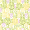 Vector colorful pineapple texture repeat pattern. Suitable for gift wrap, textile and wallpaper