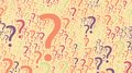 Vector Colorful Random Question Marks Background Stock Photography