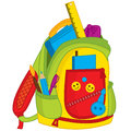 Vector Colorful School Bag. Vector Kids Backpack
