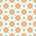 Vector colorful simple trellises seamless pattern background