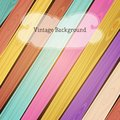Vector colorful wooden vintage background with place for your text eps Stock Photography