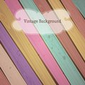 Vector colorful wooden vintage background with place for your text eps Stock Photos