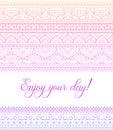 Vector colorful zentangle mandala banner. Wish, congratulations, postcard. Template for printing, web design, poster