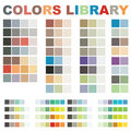 Vector colors library Stock Photo