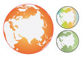 Vector coloured world globes Royalty Free Stock Photography