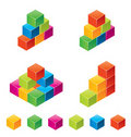 Vector colourful childrens blocks Royalty Free Stock Image