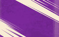Vector Comic Book Background. Grunge halftone background. Violet striped backdrop Royalty Free Stock Photo