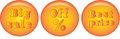 Vector commercial goldy buttons for promotion Royalty Free Stock Photo