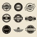 Vector commercial stamps set in vintage style for business and design Stock Images