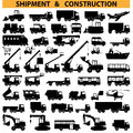 Title: Vector commercial vehicles pictograms