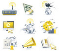 Vector communication icon set. Internet, part 1 Royalty Free Stock Photos