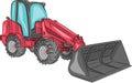 Vector compact wheel loader. Royalty Free Stock Photo