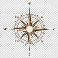 Vector Compass. Height Quality Illustration. Old Style. West, East, North, South. Wind Rose Simple
