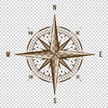 Vector Compass. High Quality Illustration. Old Style. West, East, North, South. Wind Rose Simple