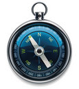 Vector compass XXL detailed icon Stock Image