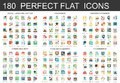180 vector complex flat icons concept symbols of legal, laws and justice, insurance, banking finance, cyber security