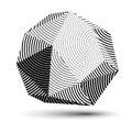 Vector Complicated 3d Figure, ...