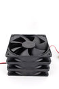 Vector computer fan on white Royalty Free Stock Photo