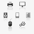 Vector computer icons Royalty Free Stock Photos