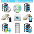Vector computer icons set isolated on white background Royalty Free Stock Photos