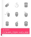 Vector computer mouse icon set Royalty Free Stock Photo
