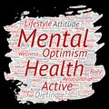 Vector conceptual mental health or positive thinking paint brush paper word cloud isolated background. Collage of optimism, psycho