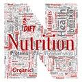 Vector nutrition health diet letter font N