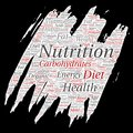 Vector nutrition health diet paint brush paper Royalty Free Stock Photo