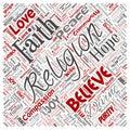 Vector religion, god, faith, spirituality Royalty Free Stock Photo