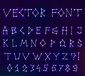 Vector constellation font in space