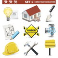 Vector construction icons set isolated on white background Stock Photo