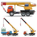 Vector construction machines set on white background Royalty Free Stock Photography