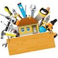 Vektor konštrukcie nástroje dom