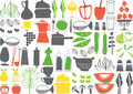 Vector - cooking elements Royalty Free Stock Photo