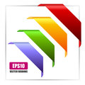 Vector corner ribbons Royalty Free Stock Photo