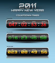 Vector countdown timer Stock Images