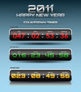Vector countdown timer Royalty Free Stock Image