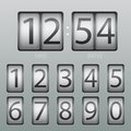 Vector countdown timer and scoreboard numbers Royalty Free Stock Photo