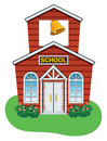 Vector country school house Royalty Free Stock Photo
