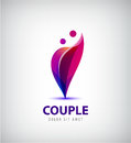 Vector couple logo. Love, support, man and woman together icon, concept.