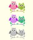 Vector Couple or massage Birds Illustration