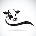 Vector of a cow head design on white background. Farm.