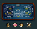 Vector craps table layout (big) Royalty Free Stock Photo