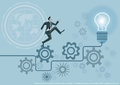 Vector Creative brainstorm concept business idea, innovation and solution, creative design flat design
