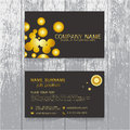 Vector Creative leaf business card gold and black design of text Royalty Free Stock Photo