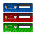 Vector Credit Card set. Business design template layout. Two sides Royalty Free Stock Photo