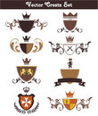 Vector crests set this is a of suitable for several projects they are full editable and resizable Royalty Free Stock Images