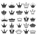 25 Vector crown icons set, stock vector illustration