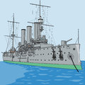 Vector cruiser aurora st petersburg Royalty Free Stock Photo