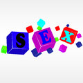 Vector cube sex illustration of colorful Royalty Free Stock Photo